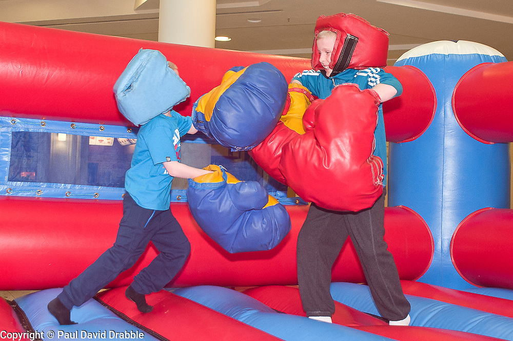 """Owen Taylor and Nathan Taylor at the launch of the """"Winning The Fight For Breath  with COPD Campaign"""" in Meadowhall Shopping Centre Sheffield on Saturday 18th February 2012..www.pauldaviddrabble.co.uk..18th February 2012 -  Image © Paul David Drabble"""