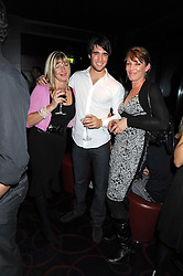 Left to right, CAROLE BOWMAN, JOSH BOWMAN and SANDRA PARSONS Kelly Brook's mother at a private party following the first night of 'Fat Pig' held at L'Atelier, 13-15 West Street, London WC2 on 20th October 2008.