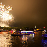 Enjoying the start of the grand finale at Rhein in Flames as part of the massive flotilla making our way thru the breathtaking Romantic Rhine valley