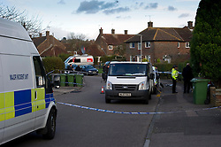 © Licensed to London News Pictures. 27/11/2010 Borehamwod, UK. .Beech Drive, Borehamwood, Hertfordshire, where babysitter Katie Briscoe, 19 was stabbed to death while looking after her nephew and neice..Photo credit : Simon Jacobs/LNP