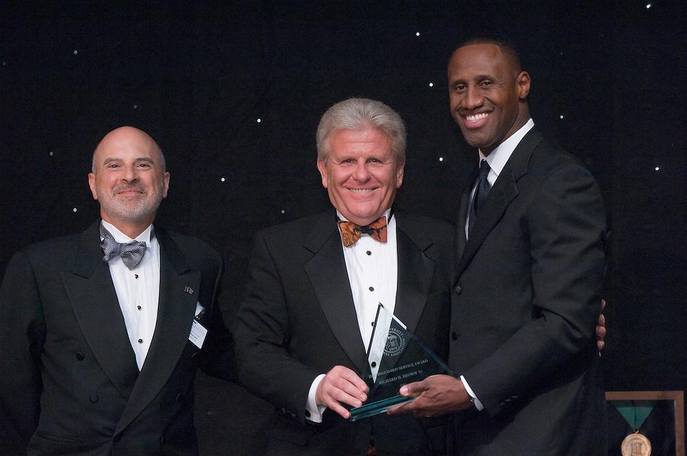 18450Alumni Awards Gala: .Richard H. Brown, BBA '65(distinguished service), ..Dennis Minichello,  and  Dell Robinson