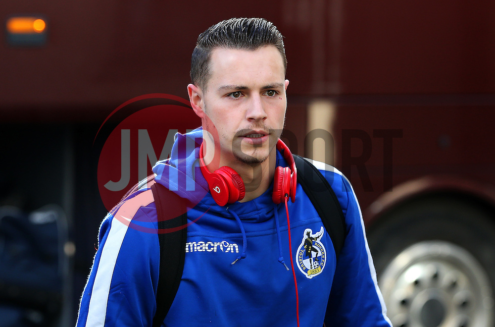 Billy Bodin of Bristol Rovers arrives at the Crown Oil Arena - Mandatory by-line: Matt McNulty/JMP - 04/02/2017 - FOOTBALL - Crown Oil Arena - Rochdale, England - Rochdale v Bristol Rovers - Sky Bet League One