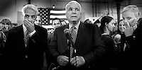 McCain Thinks He is a Winner, but.....Republican front runner Senator John McCain (R-AZ) speaks to media in San Diego, California February 5, 2008. The polls showed McCain trailing Obama by 10 points that cold February day.