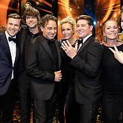 NLD/Amsterdam/20121019- Televiziergala 2012, the Voice winnaar, Winston Gerstanowitz, Simon Keizer, Marco Borsato, Wendy van Dijk, Martijn Krabbe, Angela Groothuizen en Iris Kroes
