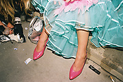 Shoes and frocks, Posh at Addington Palace, UK, August, 2004