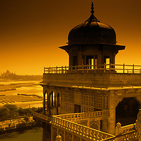Taj Mahal from Red Fort Agra India. photograph photography