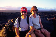 Couple, Kilauea Volcano, Hawaii Volcanoes National Park, Island of Hawaii, Hawaii, USA<br />