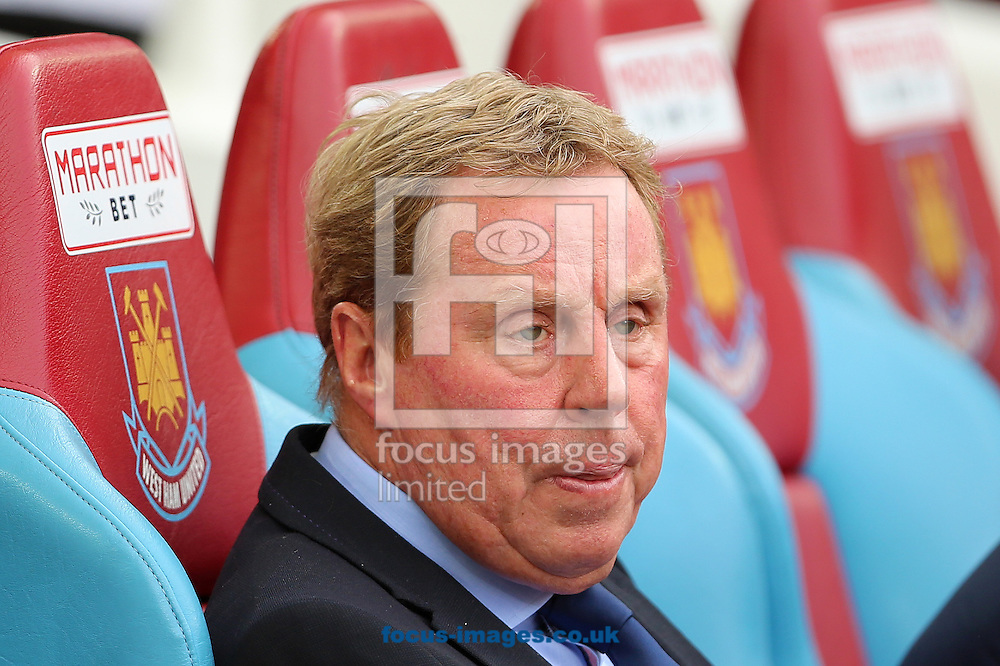 Manager of Queens Park Rangers, Harry Redknapp looks frustrated during the Barclays Premier League match defeat 2-0 at West Ham United at the Boleyn Ground, London<br /> Picture by Richard Calver/Focus Images Ltd +447792 981244<br /> 05/10/2014