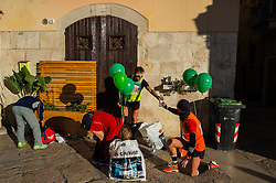 December 19, 2016 - Barletta, Italy - Puglia - Barletta, Italy - Third edition of the Cathedrals Marathon, road race for professional athletes, amateurs and beginners, who earned since its first edition, the primacy in South Italy for number of arrivals. The Puglia Region, sponsors for this initiative, recognizing the power to promote the area, in terms not only sports but also tourism. (Credit Image: © Davide Pischettola/Pacific Press via ZUMA Wire)