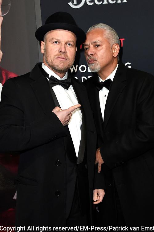 Rode loper Roast of Giel.  In het programma van Comedy Central is een bekende Nederlander een avond lang het onderwerp van harde grappen.<br /> <br /> Op de foto:  Marco Roelofs en Errol Buwalda