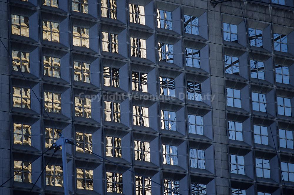 Contemporary architecture in La Defense, the business district of Paris