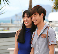 Meng Li  and Luo Lanshan at the Tian Zhu Ding (A Touch Of Sin) film photocall at the Cannes Film Festival 17th May 2013