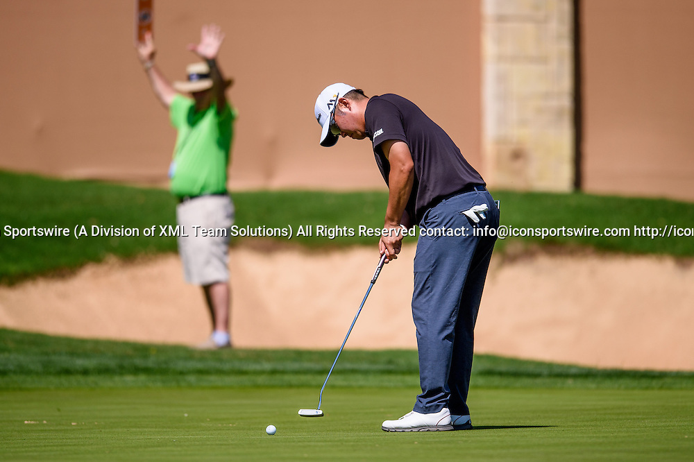 21 April 2016:  John Huh during the first round of the Valero Texas Open at the TPC San Antonio Oaks Course in San Antonio, TX. (Photo by Daniel Dunn/Icon Sportswire)