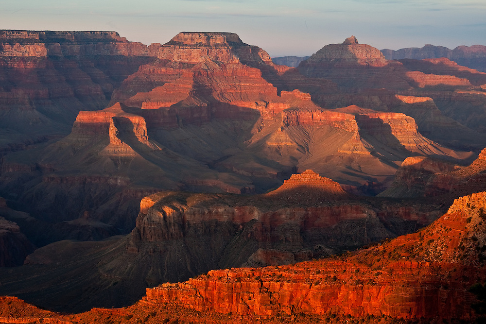 Mather Point at sunset