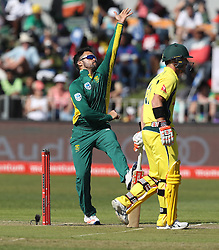 JP Duminy of South Africa during the 3rd ODI match between South Africa and Australia held at Kingsmead Stadium in Durban, Kwazulu Natal, South Africa on the 5th October  2016<br /> <br /> Photo by: Steve Haag/ RealTime Images