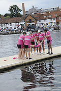 Henley, Great Britain.  Henley Royal Regatta. Abingdon School, winners of the Prince Elizabeth Challenge Cup, celebrate with the traditional ritual, of tossing the Cox in the river. River Thames Henley Reach.  Royal Regatta. River Thames Henley Reach.  Sunday  03/07/2011  [Mandatory Credit  Karon Phillips/ Intersport Images] . HRR