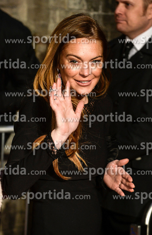 Lindsay Lohan attends the The World's First Fabulous Fund Fair hosted by Natalia Vodianova and Karlie Kloss in support of The Naked Heart Foundation at The Roundhouse on February 24, 2015 in London, England. EXPA Pictures &copy; 2015, PhotoCredit: EXPA/ Photoshot/ Euan Cherry<br /> <br /> *****ATTENTION - for AUT, SLO, CRO, SRB, BIH, MAZ only*****