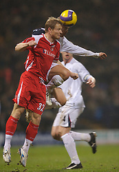 Bolton, England - Wednesday, January 31, 2007: Bolton Wanderers' Stelios Giannakopoulos and Charlton Athletic's Ben Thatcher during the Premiership match at the Reebok Stadium. (Pic by David Rawcliffe/Propaganda)