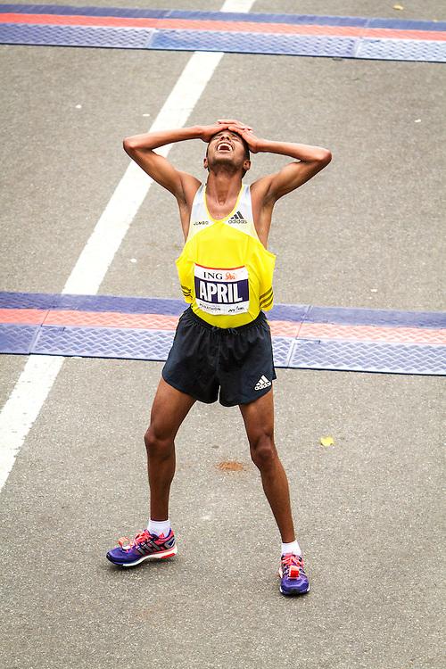 ING New York CIty Marathon: Lusapho April, South Africa, 3rd