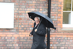 © Licensed to London News Pictures. 28/06/2017. Warrington, UK. Trevor Hicks arrives at Parr Hall. Families of the 96 people killed at the Hillsborough disaster in 1989 will today find out if criminal charges will be brought after Prosecutors examining files identified 23 criminal suspects. Families will be informed of the decisions by Sue Hemming, CPS Head of Special Crime & Counter-Terrorism at Parr Hall in Warrington. Photo credit: Andrew McCaren/LNP