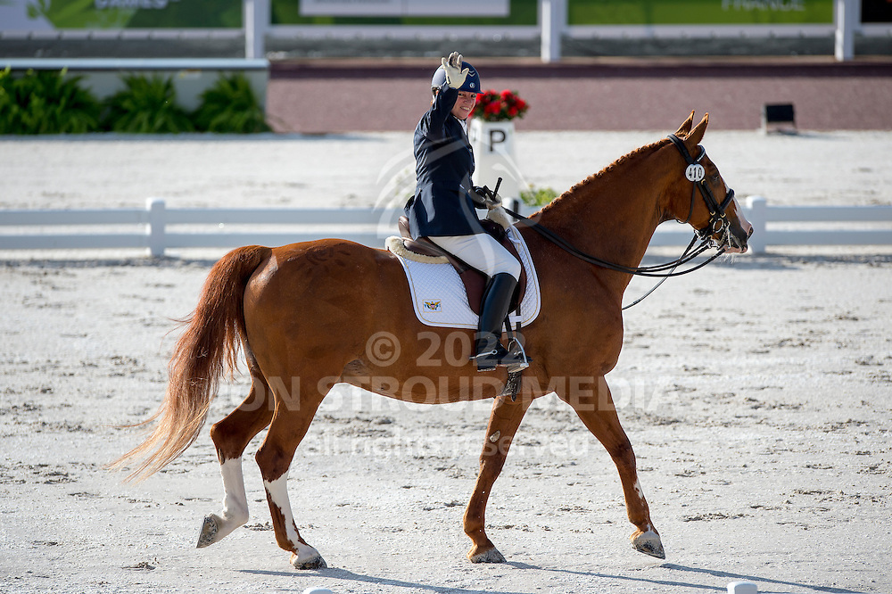 Lee Frawley, (ISV), Rhapsody - Team Competition Grade IV Para Dressage - Alltech FEI World Equestrian Games&trade; 2014 - Normandy, France.<br /> &copy; Hippo Foto Team - Jon Stroud <br /> 25/06/14