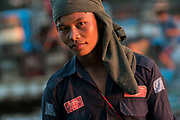 Longshoreman on the banks of the Chindwin River,Monywa, Myanmar