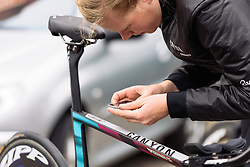 Mieke Kröger (CANYON//SRAM Racing) at Omloop van Borsele Time Trial 2016. A 19.9 km individual time trial starting and finishing in 's-Heerenhoek, Netherlands on 22nd April 2016.