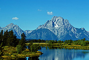 Grand Tetons, Snake River & Canada Geese - Wyoming