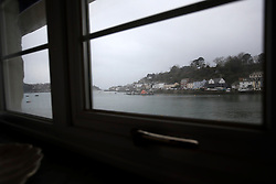 UK ENGLAND FOWEY 19FEB15 - View onto Fowey, Cornwall, England from Ferryside, an old boat yard where famous English novelist Daphne Du Maurier lived for a number of years. Fowey, a small fishing and harbour village was the living place of famous English writer Daphne Du Maurier and many of her novels are based here.<br /> <br /> jre/Photo by Jiri Rezac<br /> <br /> © Jiri Rezac 2015
