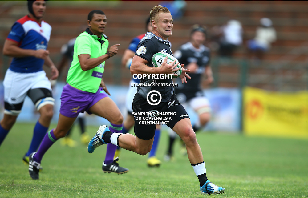 DURBAN, SOUTH AFRICA - APRIL 23: Dylan Marcus of the Cell C Sharks XV during the Provincial Cup match between Cell C Sharks XV and Windhoek Draught Welwitschias at King Zwelithini Stadium on April 23, 2016 in Durban, South Africa. (Photo by Steve Haag/Gallo Images)