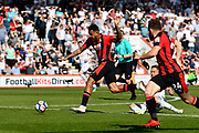 Joshua King (17) of AFC Bournemouth bursts in to the 18 yard box during the Premier League match between Bournemouth and Swansea City at the Vitality Stadium, Bournemouth, England on 5 May 2018. Picture by Graham Hunt.