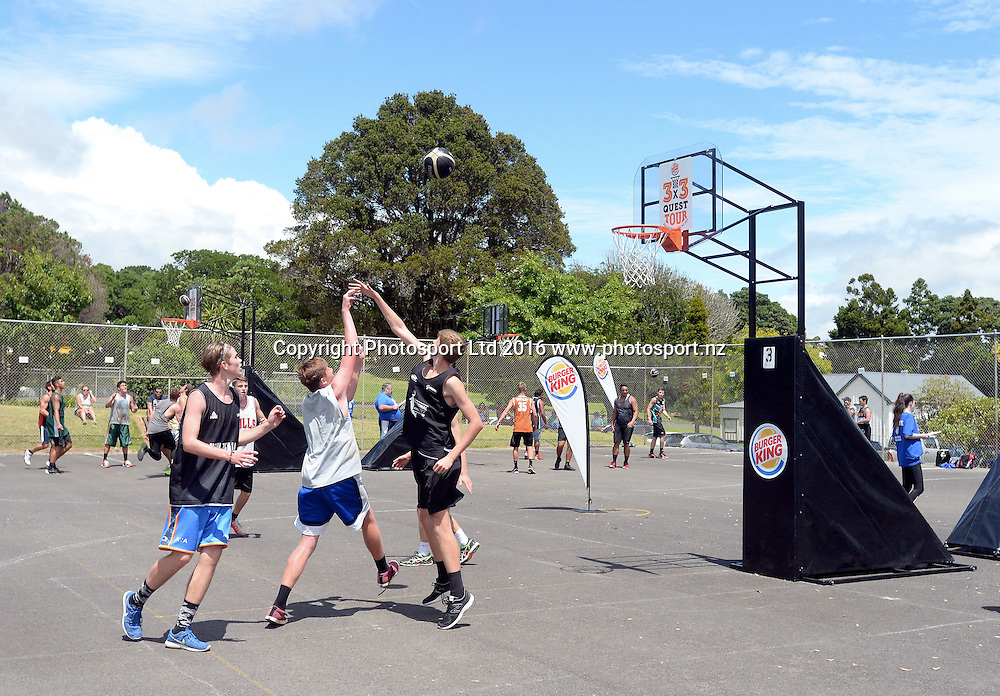 Burger King 3x3 National Basketball Tour, New Plymouth, Saturday, January 30, 2016. Copyright photo: Kerry Marshall / www.photosport.nz