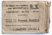 vintage film and prints envelope 1910s France