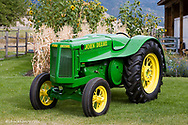 1936 John Deere AOS Streamline Tractor restored by Dennis Black of Arlee Montana. Only 800 built.