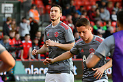 Matteo Darmian (36) of Manchester United warming up before the Premier League match between Bournemouth and Manchester United at the Vitality Stadium, Bournemouth, England on 18 April 2018. Picture by Graham Hunt.