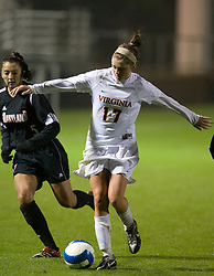 Virginia Cavaliers M/F Sinead Farrelly (17).The #3 ranked Virginia Cavaliers Women's Soccer team defeated the Maryland Terrapins 3-0 at Klockner Stadium in Charlottesville, VA on October 25, 2007.
