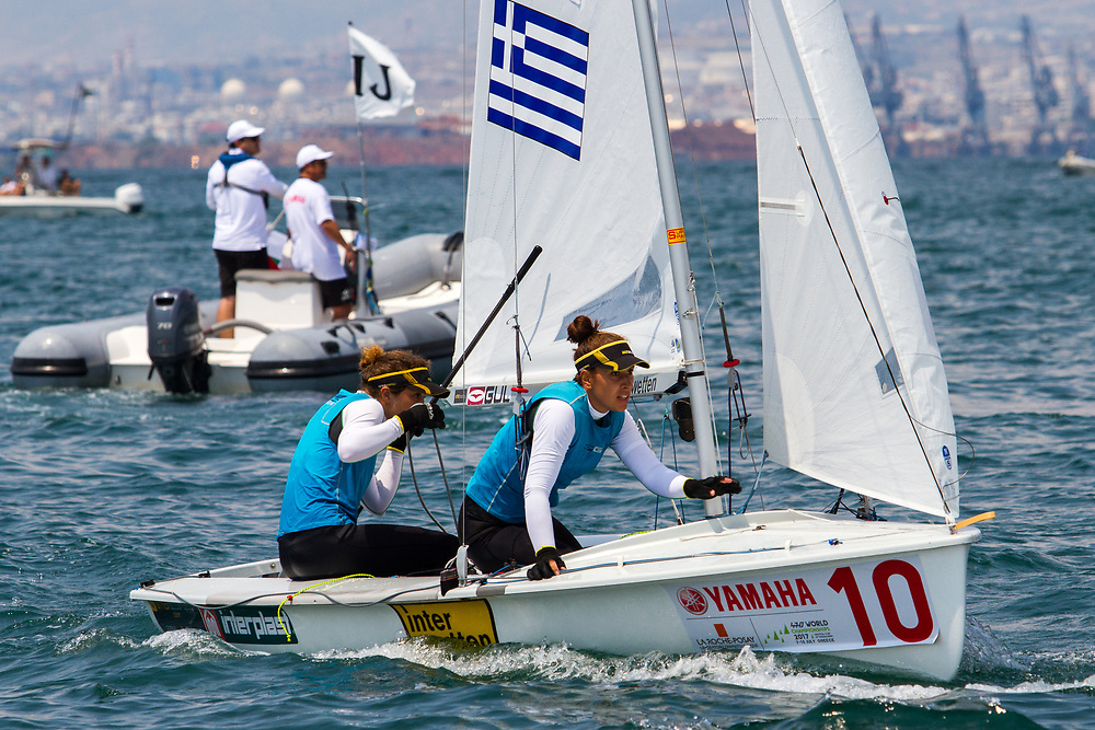 2017 470 World Championship, Thessaloniki, Greece. Olympic sailing in the two-person dinghy men and two-person dinghy women events from 7-15 July 2017. World Championship titles will be decided on Saturday 15 July.