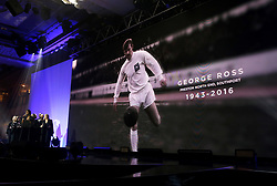 A tribute to George Ross on the big screen during the Professional Footballers' Association Awards 2017 at the Grosvenor House Hotel, London