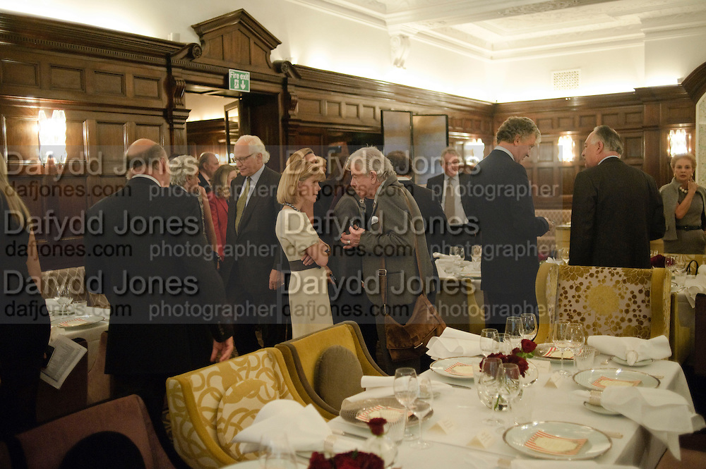 ANNA CARTER; NICKY HASLAM, Graydon and Anna Carter host a lunch for Carolina Herrera to celebrate the ipening of her new shop on Mount St. .The Connaught. London. 20 January 2010