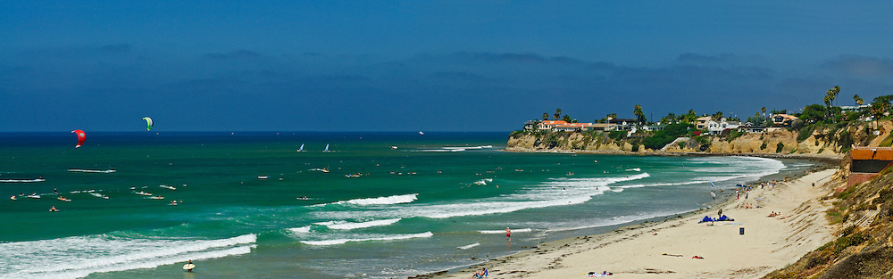 California, San Diego Coastline, with Luxury Homes