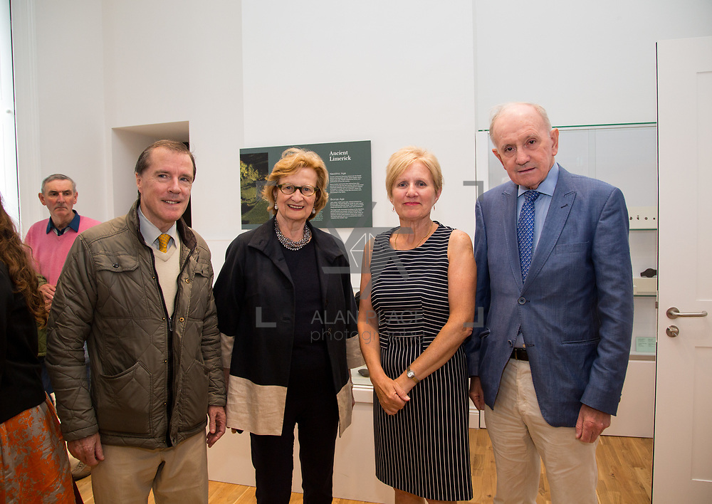 30.05. 2017.                                             <br /> Limerick Museum opened the doors to its new home at the former Franciscan Friary on Henry Street in the heart of Limerick city, dedicated to the memory of Jim Kemmy, the former Democratic Socialist Party and Labour Party TD for Limerick East and two-time Mayor of Limerick.<br /> <br /> Pictured at the opening of the new Museum were, Cllr.Ger Mitchell, Grace Warnecke, Cllr. Marian Hurley and Don Neville.<br /> <br /> The museum will house one of the largest collections of any Irish museum. Picture: Alan Place