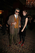 JUSTIN DE VILLENEUVE AND HIS DAUGHTER POPPY DE VILLENEUVE, Sir Peter Blake and Poppy De Villeneuve host a party with University of the Arts London at the Arts Club, Dover Street, London. 20 APRIL 2006<br />ONE TIME USE ONLY - DO NOT ARCHIVE  © Copyright Photograph by Dafydd Jones 66 Stockwell Park Rd. London SW9 0DA Tel 020 7733 0108 www.dafjones.com