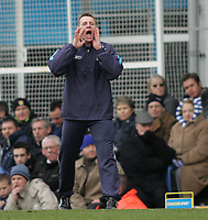 Photo: Lee Earle.<br /> Portsmouth v Manchester City. The Barclays Premiership. 11/03/2006. City boss Stuart Pearce.