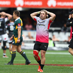 DURBAN, SOUTH AFRICA - SEPTEMBER 05: Faf de Klerk of the Steval Pumas during the Absa Currie Cup match between Cell C Sharks and Steval Pumas at Growthpoint Kings Park on September 05, 2015 in Durban, South Africa. (Photo by Steve Haag/Gallo Images)