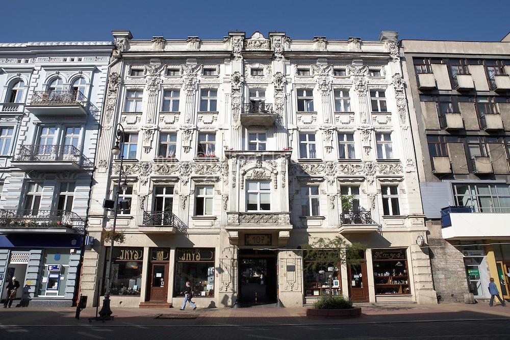 Eastern Europe Western Mazovia Lodz Art Noveau Architecture 107 Piotrkowska Street
