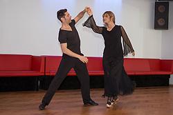 09.03.2016, Tanzschule Breuer, Koeln, GER, Lets Dance, Training, im Bild Christian Polanc (37, Profitaenzer) mit Nastassja Kinski (55, Schauspielerin) // during the German Let's Dance, Training at Tanzschule Breuer in Koeln, Germany on 2016/03/09. EXPA Pictures © 2016, PhotoCredit: EXPA/ Eibner-Pressefoto/ Deutzmann<br /> <br /> *****ATTENTION - OUT of GER*****