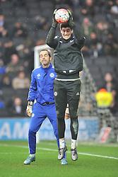 THIBAUT COURTOIS GOALKEEPER CHELSEA, MK Dons v Chelsea Emirates FA Cup  4th Round, Stadium MK, Sunday 31st January 2016.