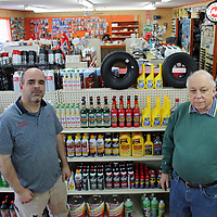 From left, Justin and Billy Pender represent the second and third generations of the Nettleton business, Pender's Auto Parts.