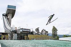 11.07.2019, Bergiselschanze, Innsbruck, AUT, Pressetermin ÖSV Ski Nordisch, Pressetermin Ski Sprung, im Bild Markus Schiffner // Markus Schiffner during a media Event of the Austrian Ski Association (ÖSV), jumping at the Bergiselschanze in Innsbruck, Austria on 2019/07/11. EXPA Pictures © 2019, PhotoCredit: EXPA/ Johann Groder