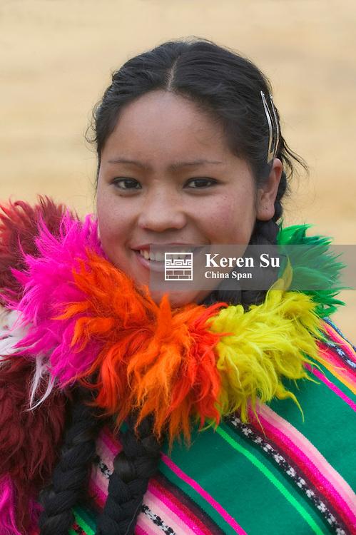 Portrait of Indian girl, Cuzco, Peru